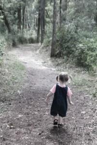 Little Girl Hiking